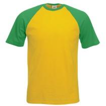 Férfi rövid ujjú, két színű póló (Short Sleeve Baseball T) Fruit
