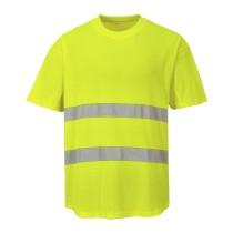 C394 - Jól láthatósági hálós póló sárga