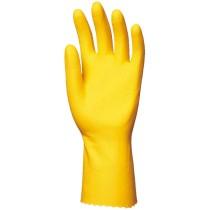 Háztartási gumikesztyű, vegyszerálló, sárga, 0,5 mm
