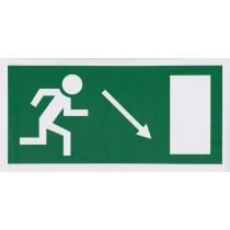 Menekülési út a lépcsőn lefelé, jobbra