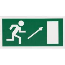 Menekülési út a lépcsőn fölfelé, jobbra