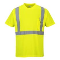 S190 - Jól láthatósági póló zsebbel sárga