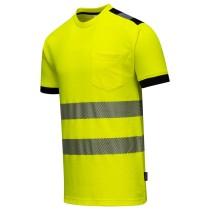 T181 - Jól láthatósági Vision póló sárga
